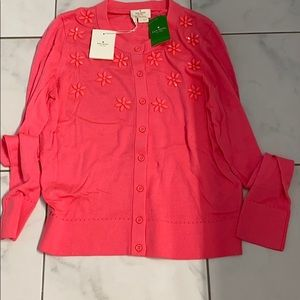 NWT Kate Spade Floral Cluster Cardigan M